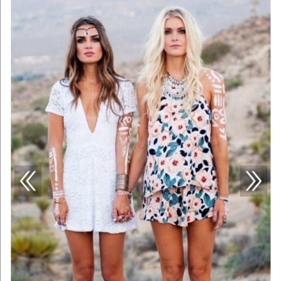 Show Me Your MuMu Dresses & Skirts - NWT Show Me Your Mumu White Ibiza Lace Dress